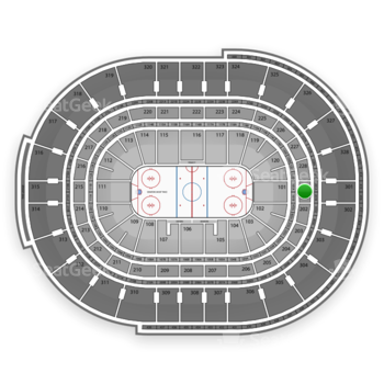 NHL at Canadian Tire Centre Section 201 View