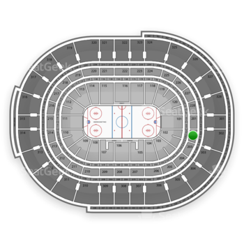 NHL at Canadian Tire Centre Section 202 View