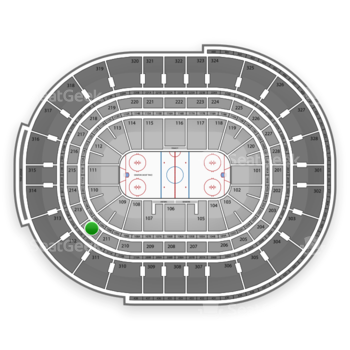 NHL at Canadian Tire Centre Section 212 View