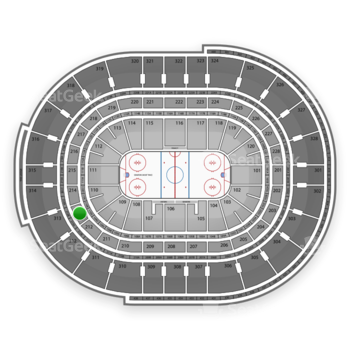 NHL at Canadian Tire Centre Section 213 View