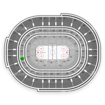 NHL at Canadian Tire Centre Section 214 View
