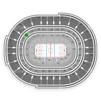 NHL at Canadian Tire Centre Section 218 View