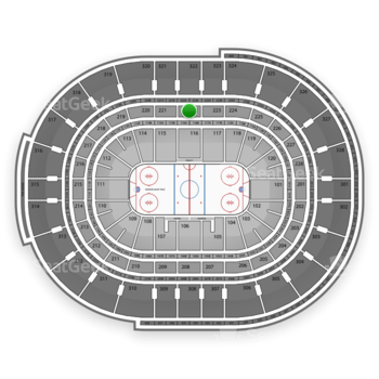 NHL at Canadian Tire Centre Section 222 View