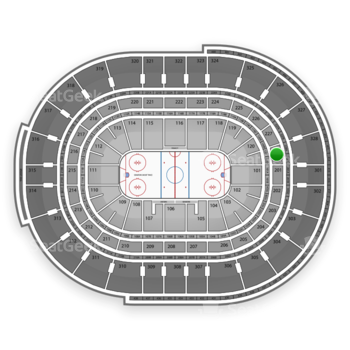 NHL at Canadian Tire Centre Section 228 View
