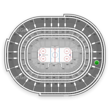 NHL at Canadian Tire Centre Section 302 View