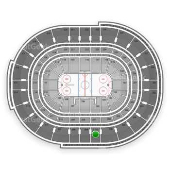 NHL at Canadian Tire Centre Section 307 View