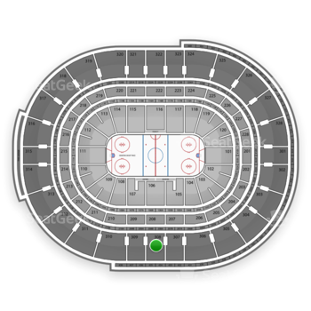 NHL at Canadian Tire Centre Section 308 View