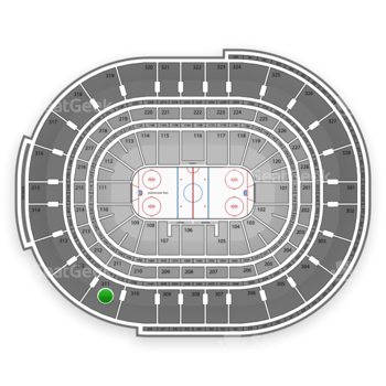 NHL at Canadian Tire Centre Section 311 View