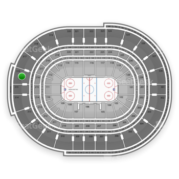 NHL at Canadian Tire Centre Section 316 View