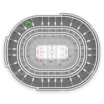 NHL at Canadian Tire Centre Section 319 View