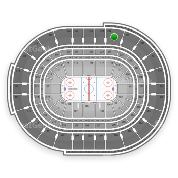 NHL at Canadian Tire Centre Section 324 View