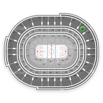 NHL at Canadian Tire Centre Section 326 View