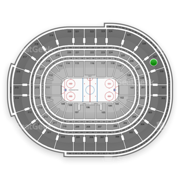 NHL at Canadian Tire Centre Section 327 View
