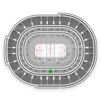 NHL at Scotiabank Place Section 208 View