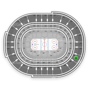 NHL at Scotiabank Place Section 303 View