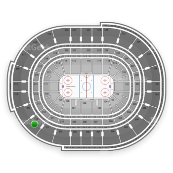 NHL at Scotiabank Place Section 312 View