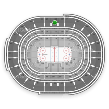 NHL at Scotiabank Place Section 322 View
