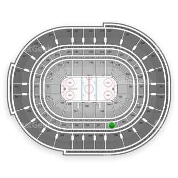 Ottawa Senators at Canadian Tire Centre Section 206 View
