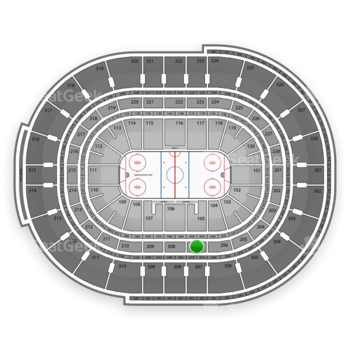 Ottawa Senators at Canadian Tire Centre Section 207 View