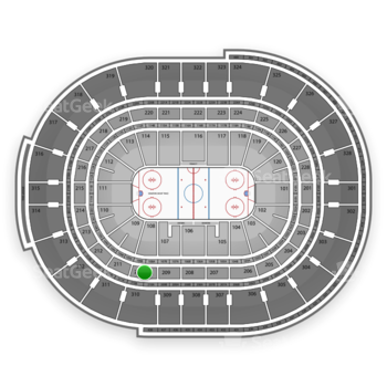 Ottawa Senators at Canadian Tire Centre Section 210 View