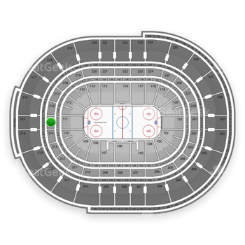 Ottawa Senators at Canadian Tire Centre Section 215 View