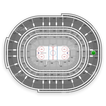 Ottawa Senators at Canadian Tire Centre Section 301 View