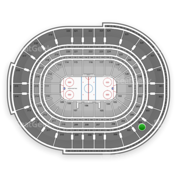 Ottawa Senators at Canadian Tire Centre Section 304 View