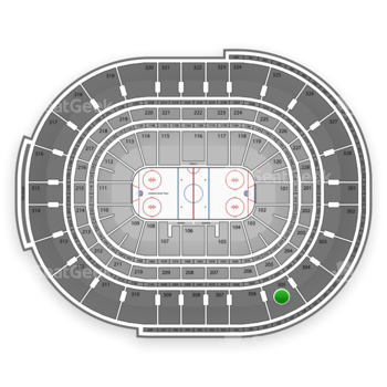 Ottawa Senators at Canadian Tire Centre Section 305 View