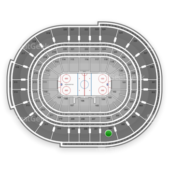 Ottawa Senators at Canadian Tire Centre Section 306 View