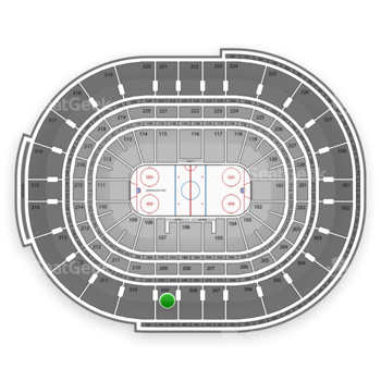 Ottawa Senators at Canadian Tire Centre Section 309 View