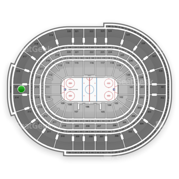 Ottawa Senators at Canadian Tire Centre Section 315 View