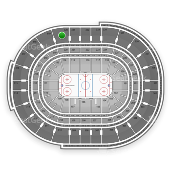 Ottawa Senators at Canadian Tire Centre Section 320 View