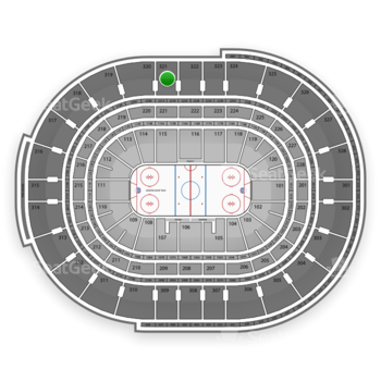 Ottawa Senators at Canadian Tire Centre Section 321 View