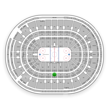 Ottawa Senators at Canadian Tire Centre Section 208 View