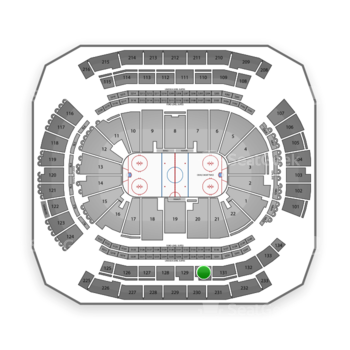 New Jersey Devils at Prudential Center Section 130 View