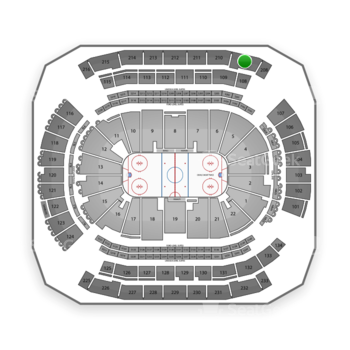 New Jersey Devils at Prudential Center Section 209 View