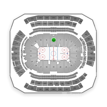 New Jersey Devils at Prudential Center Section 8 View
