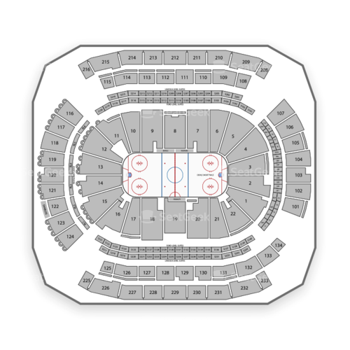 Prudential Center Seating Chart Map Seatgeek