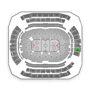 New Jersey Devils at Prudential Center Section 102 View