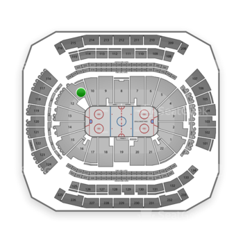 New Jersey Devils at Prudential Center Section 11 View