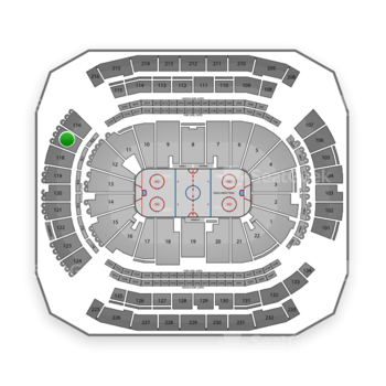 New Jersey Devils at Prudential Center Section 117 View
