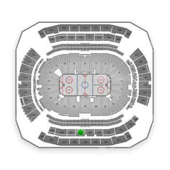 New Jersey Devils at Prudential Center Section 128 View