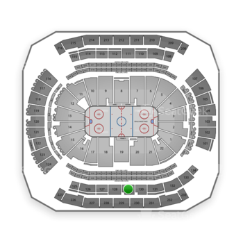New Jersey Devils at Prudential Center Section 129 View