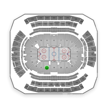 New Jersey Devils at Prudential Center Section 18 View