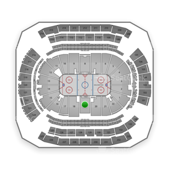 New Jersey Devils at Prudential Center Section 19 View