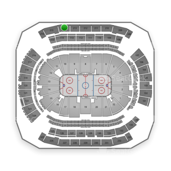 New Jersey Devils at Prudential Center Section 214 View
