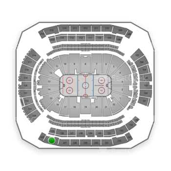New Jersey Devils at Prudential Center Section 226 View