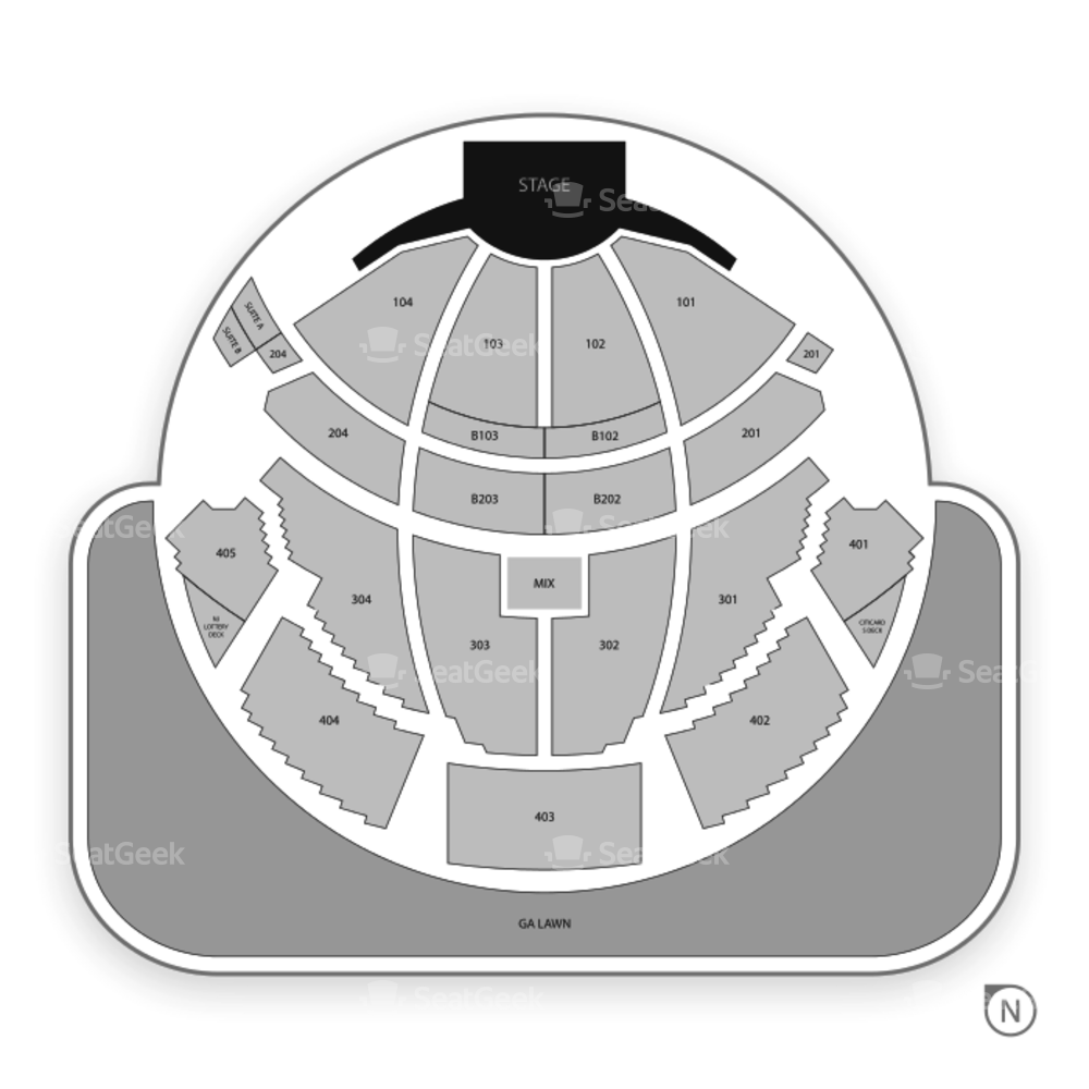PNC Bank Arts Center Seating Chart Concert