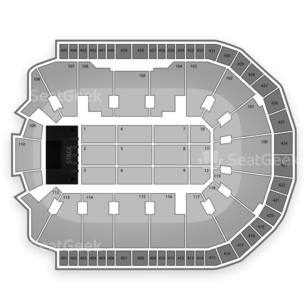 Webster Bank Arena at Harbor Yard Seating Chart Concert
