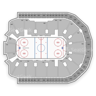 Webster Bank Arena Seating Chart NCAA Hockey